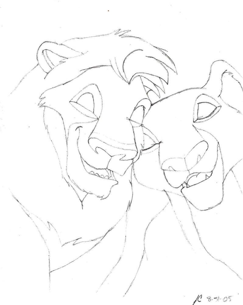 kovu and kiara coloring pages - photo#21