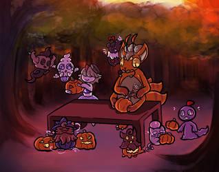 [P.ADV] (Mission-Collab) Carving Pumpkins by rakadishu