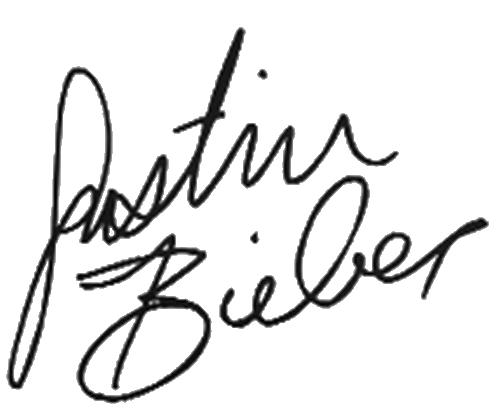 Justin Bieber sign render by HaNa1412 on DeviantArt
