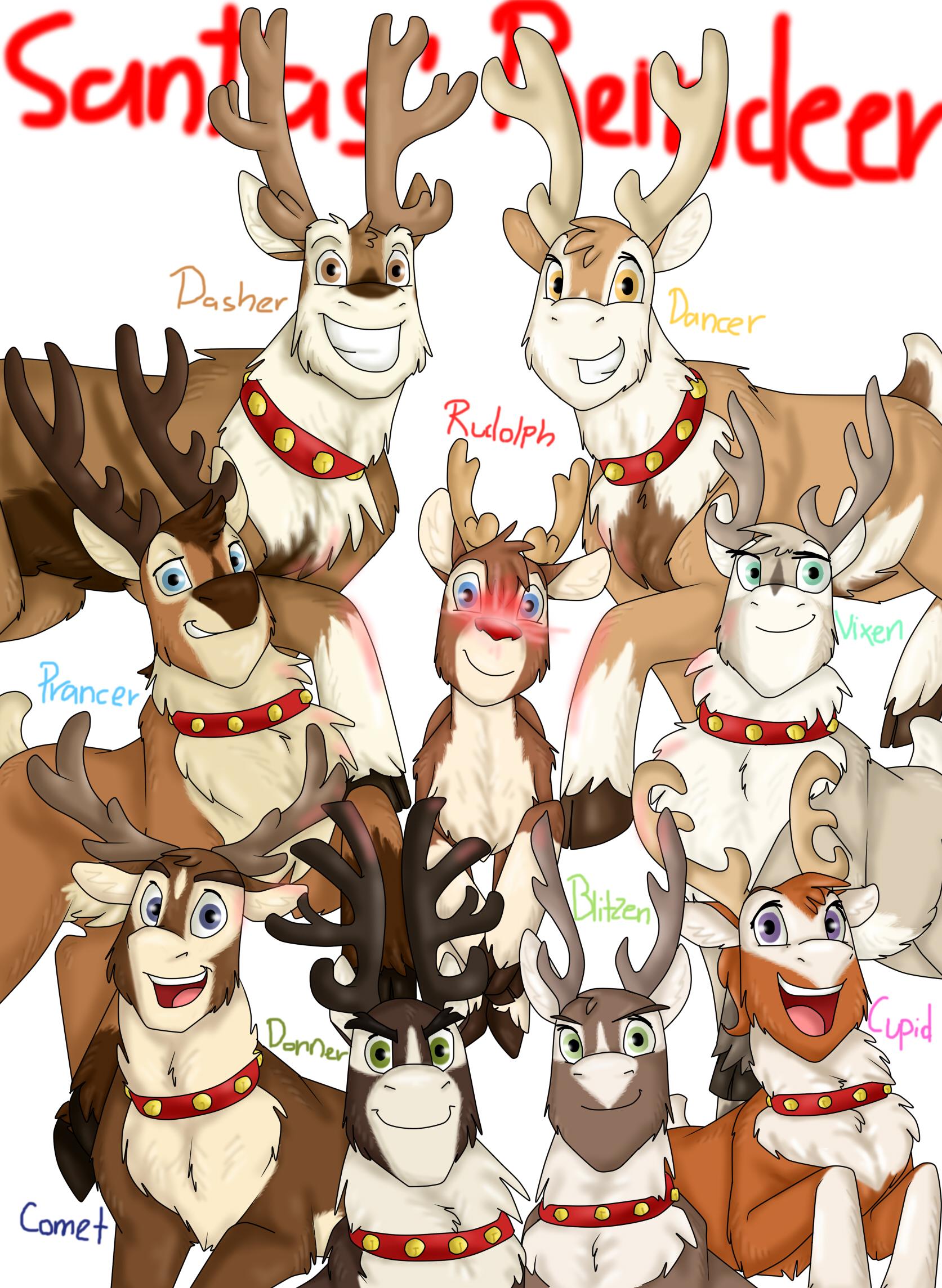 santas reindeer by namygaga - Santa And The Reindeer