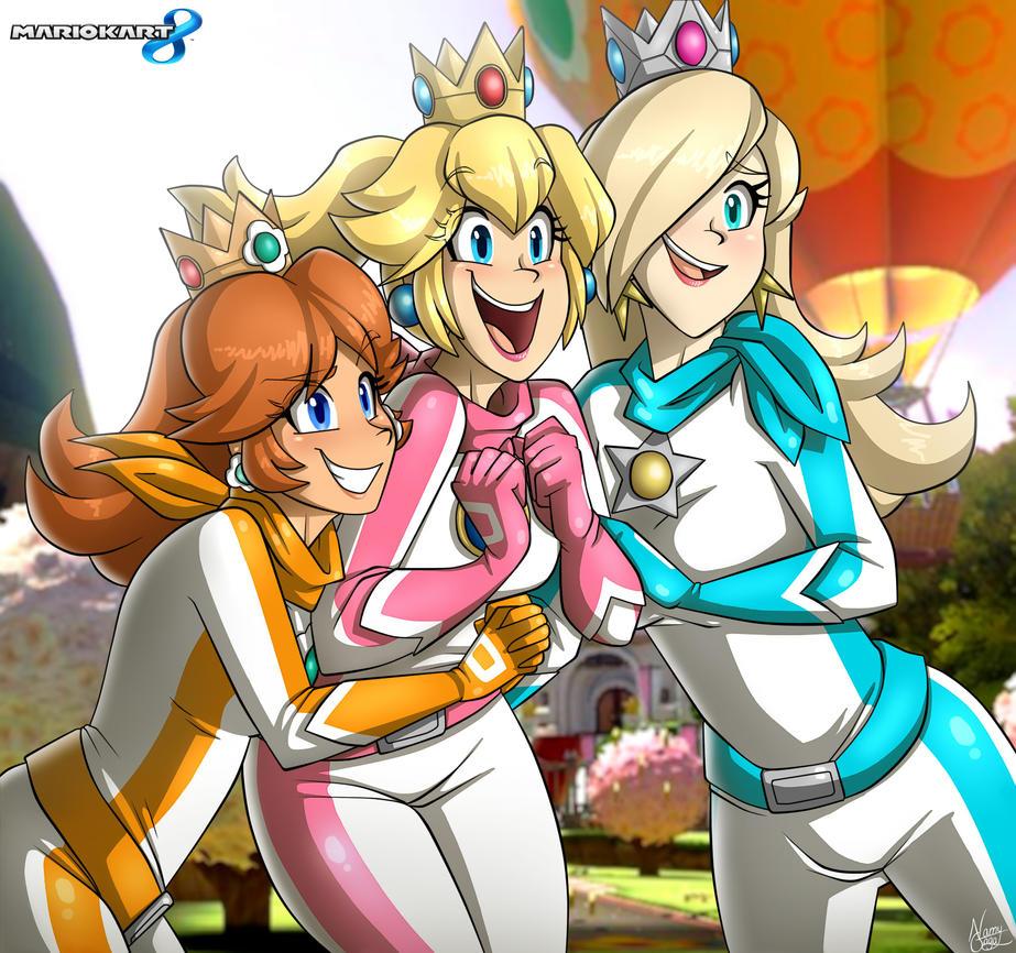 Mario Kart 8 Princesses by NamyGaga