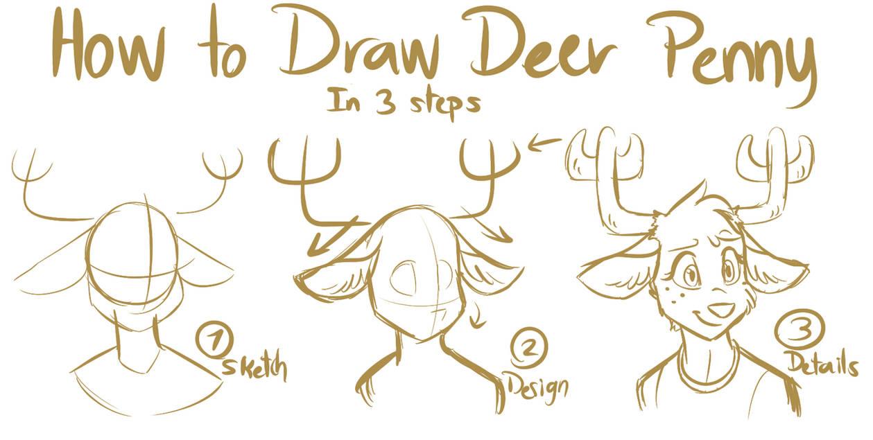 Tawog how draw to deer penny by namygaga