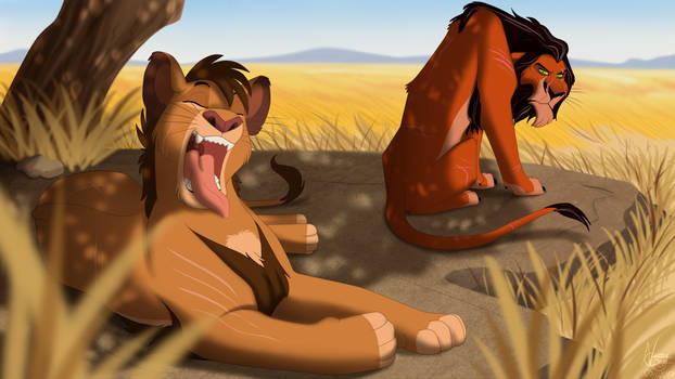 An afternoon with my uncle Scar by NamyGaga