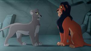 The lionesses plan something - AU
