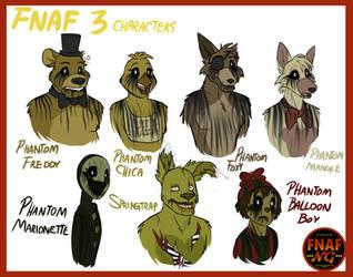 FNAFNG_FNAF 3 Characters by NamyGaga