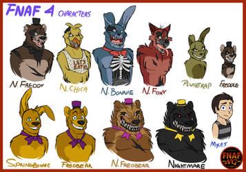 FNAFNG_FNAF 4 Characters by NamyGaga