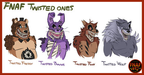 FNAFNG_Twisted Ones Characters by NamyGaga