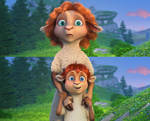 Lyra and Shia (Fail Background)