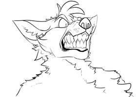FNAFNG_Sketch Angry Foxy