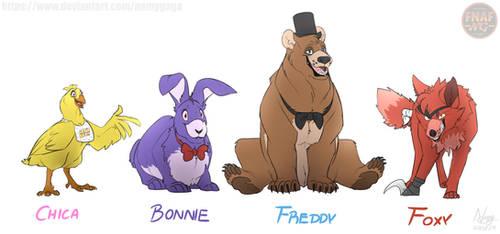 FNAFNG_Animal Freddies by NamyGaga