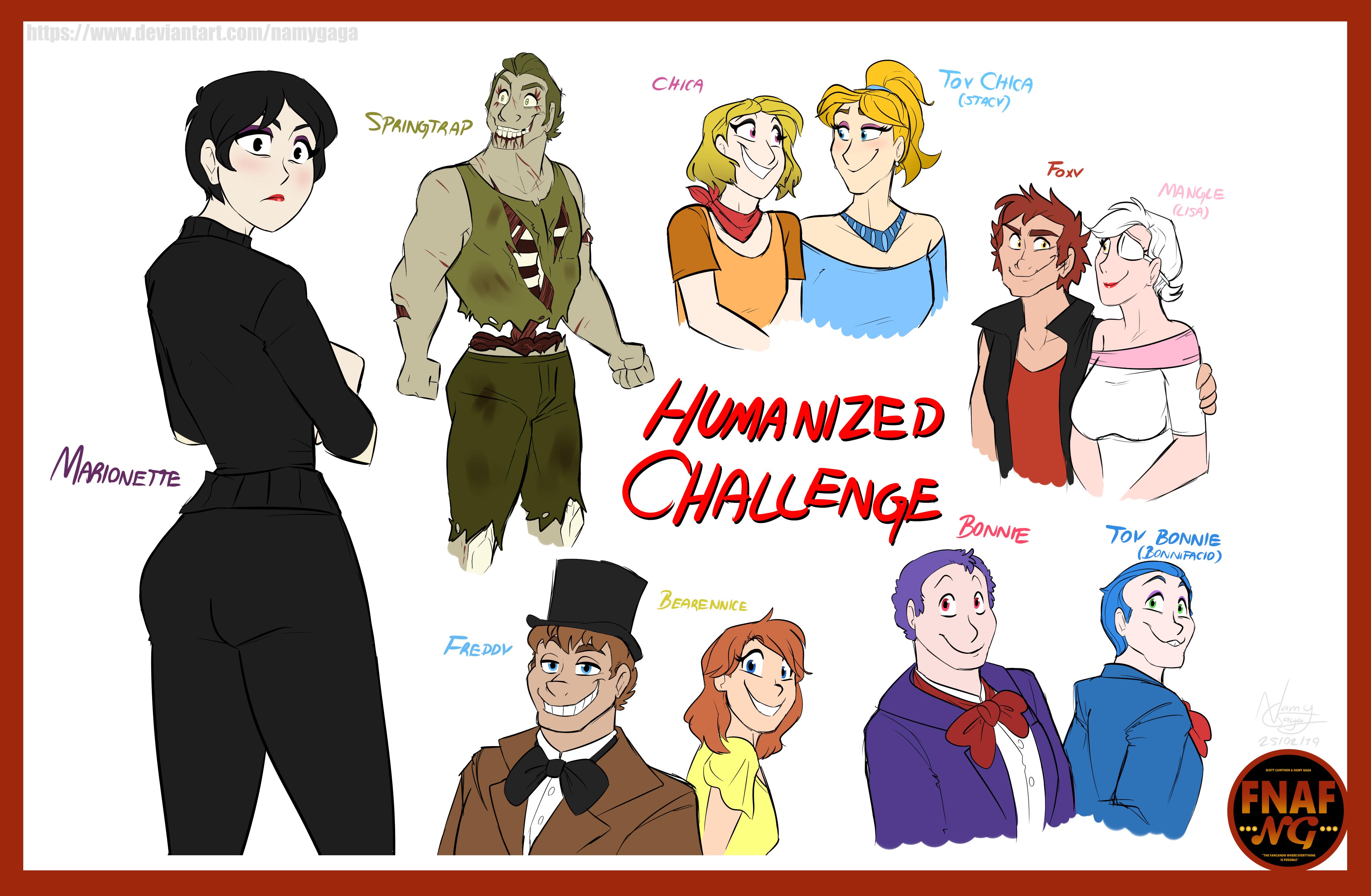 FNAFNG_Humanized Challenge by NamyGaga