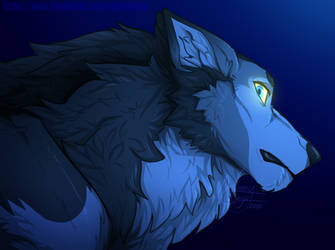 Coloring Practice_Wolf by NamyGaga