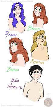 FNAFNG_Hair down girls 1