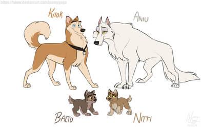 Balto's Family Design by NamyGaga