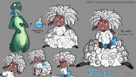 Sheep N' Wolves 2_Josie Practice Sheet by NamyGaga