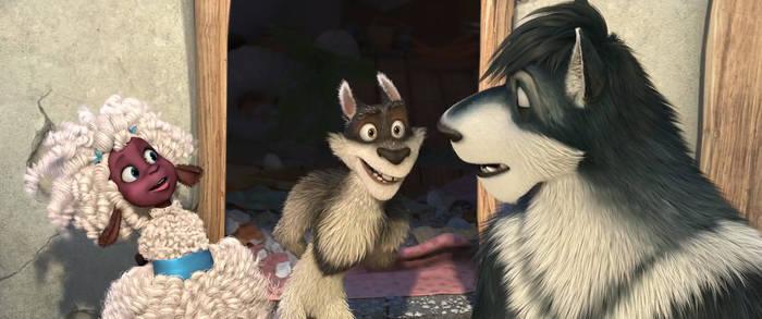 Josie and Skinny looking at Grey by NamyGaga