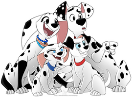 Dylan Dolly Lucky Cadpig Dalmatians