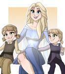 Elsa and her daughters (GIFT) by NamyGaga