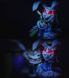 FNAFNG_Vanny and her toy (2 versions)