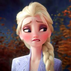 Elsa Horny face edit
