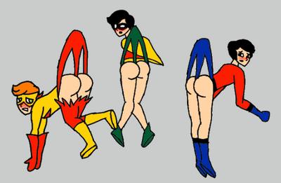 Teen Titans wedgies by MRPhoenix0015