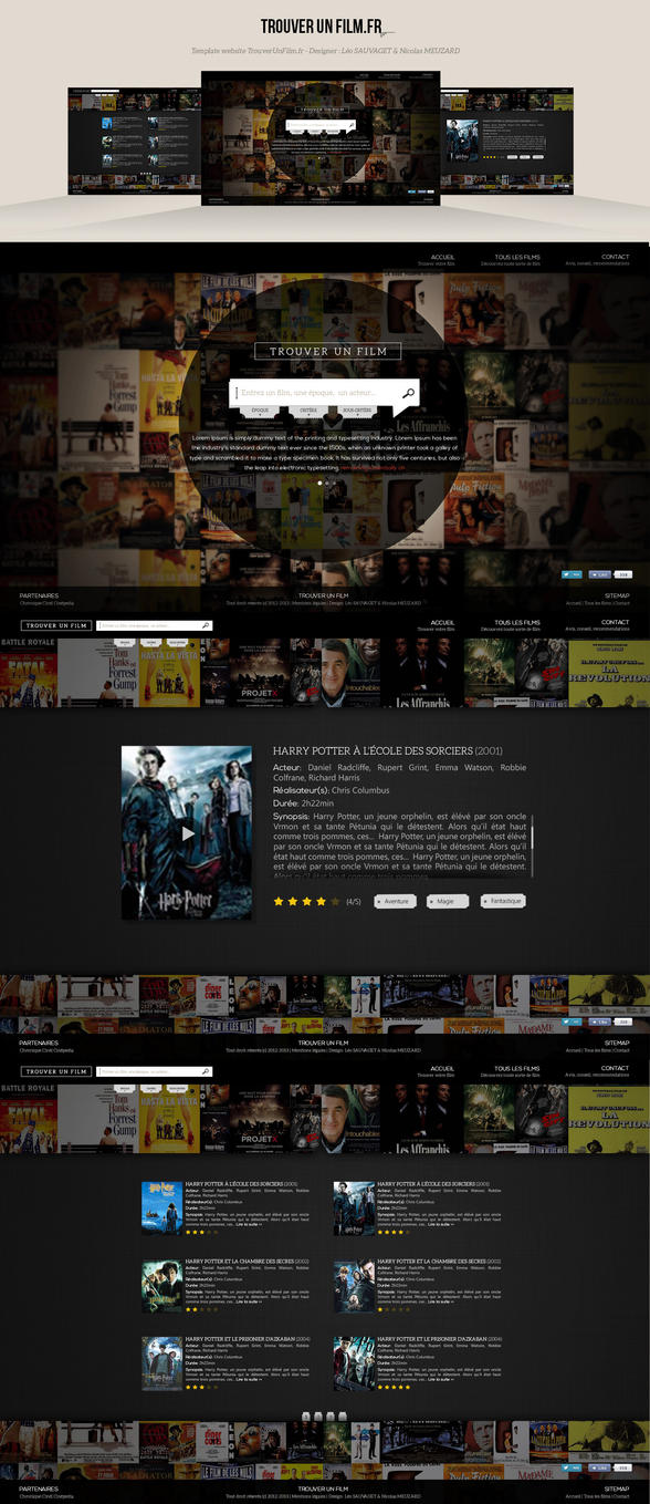 trouver un film find a movie webdesign by nicolasmzrd on deviantart