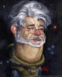 George Lucas by tomfluharty