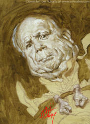 McCain Face Underpainting by tomfluharty