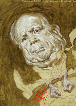 McCain Face Underpainting