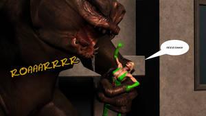 UltraWoman vs Monster2_by_Plin