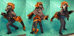 RF Art show Piece - Feathered Raptor partial by temperance