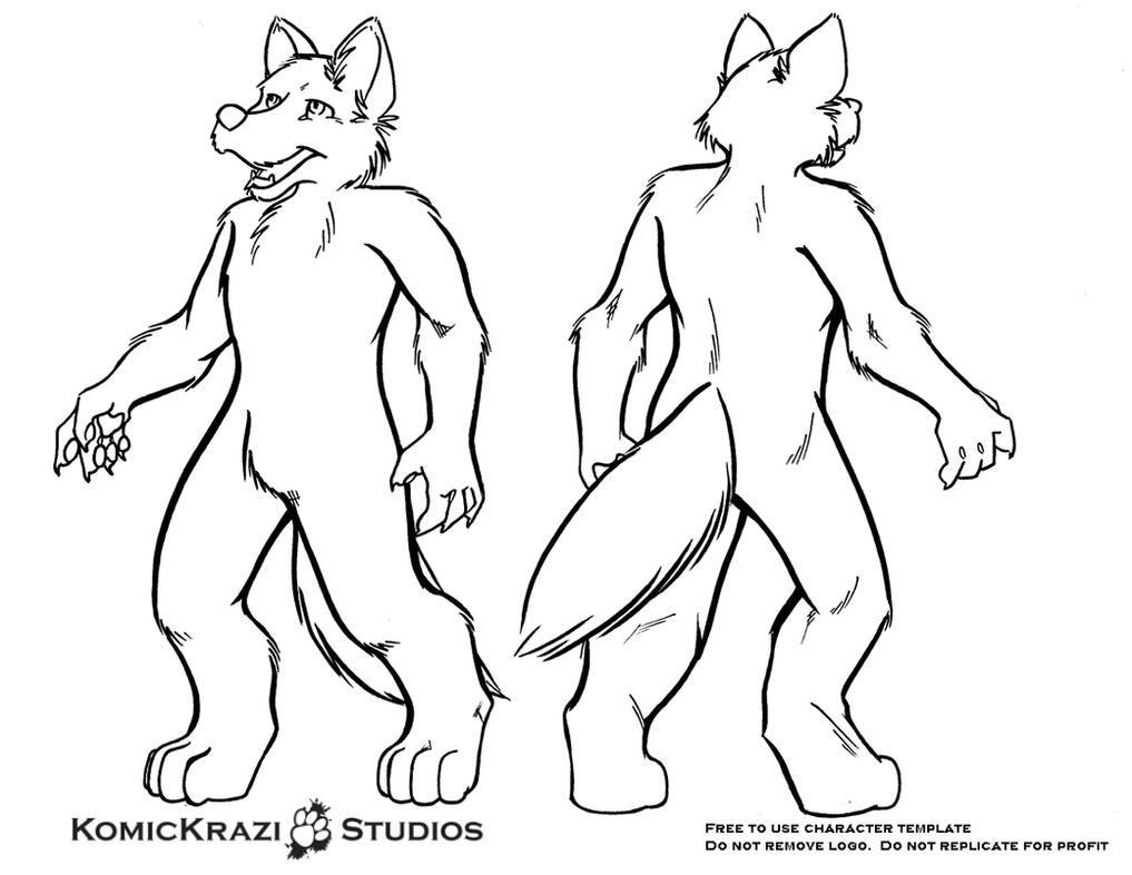 Digitigrade Canine - Free Character template by temperance on DeviantArt