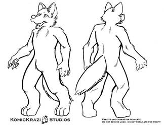 Digitigrade Canine - Free Character template by temperance