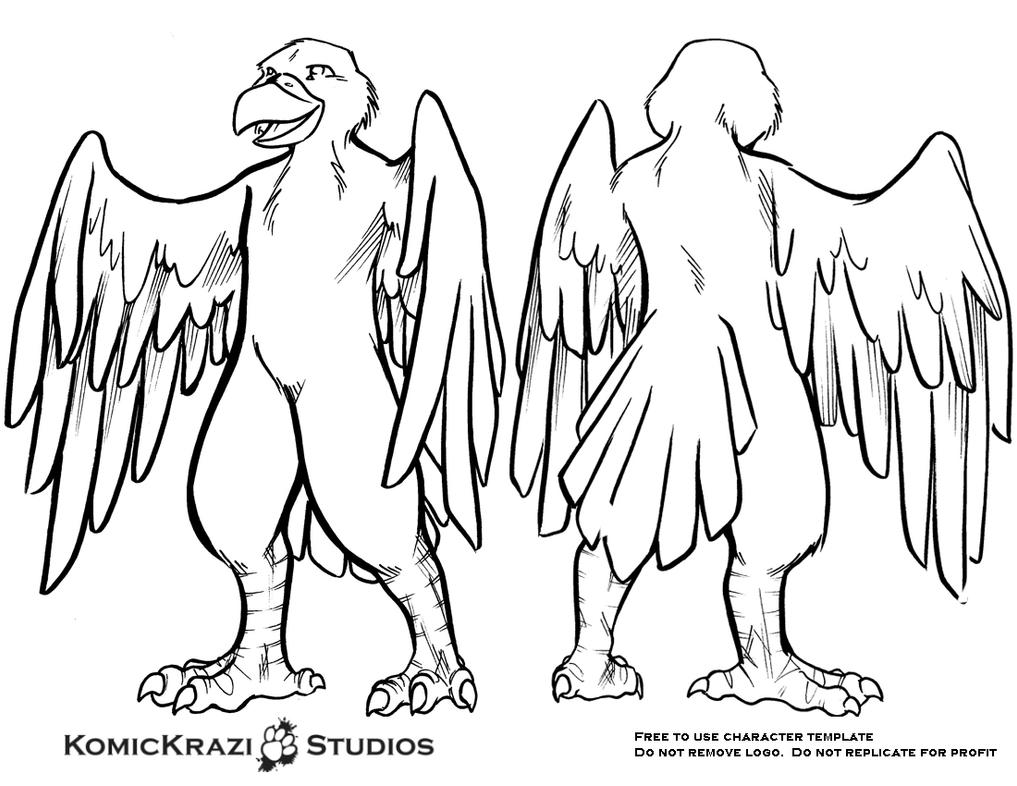 Predator Bird - Free Character Template by temperance on DeviantArt