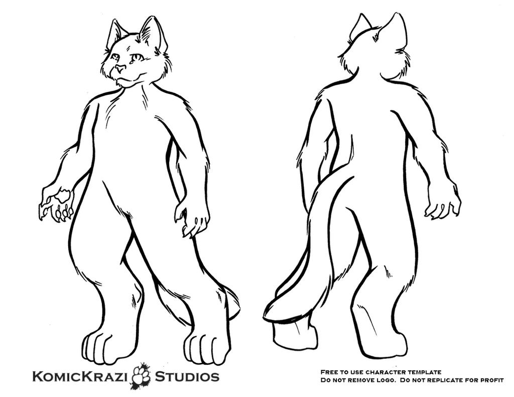 Digitigrade Small Feline - Free Character template by temperance on ...