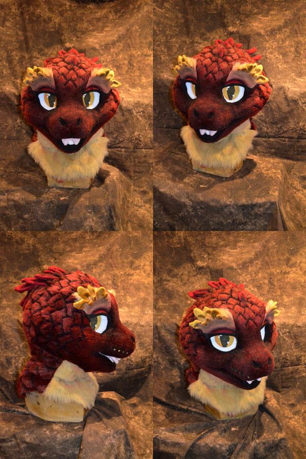 Naan the Quetzalcoatl Head by temperance