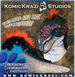 Komickrazi Fursuit Head and Tail Giveaway contest! by temperance