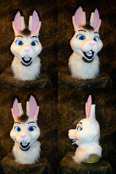 Whiteshadow Hare Head by temperance