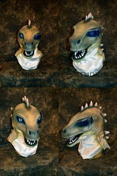 Maksio - Tuatara lizard Head with eyepiece