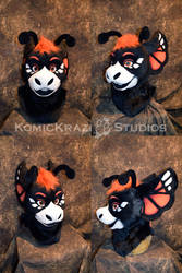 Monarch Butterfly Dragon Head by temperance