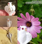 Asa Heart Wings Necklace - more angles