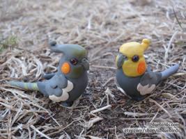 Cockatiel Figurines by The-Wandering-Bird