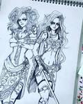 Fantasy girls line up