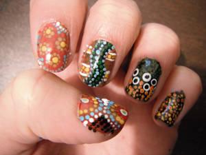 Aboriginal nail art 1