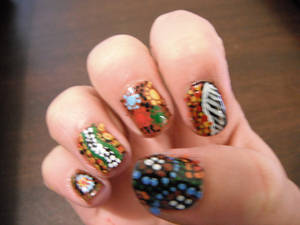 Aboriginal nail art 2
