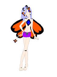 Sapphire the Fluttergem Mascot by JellybeanGravy