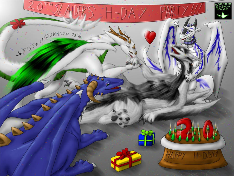 Herpy Dragoness Happy hatchday slaider