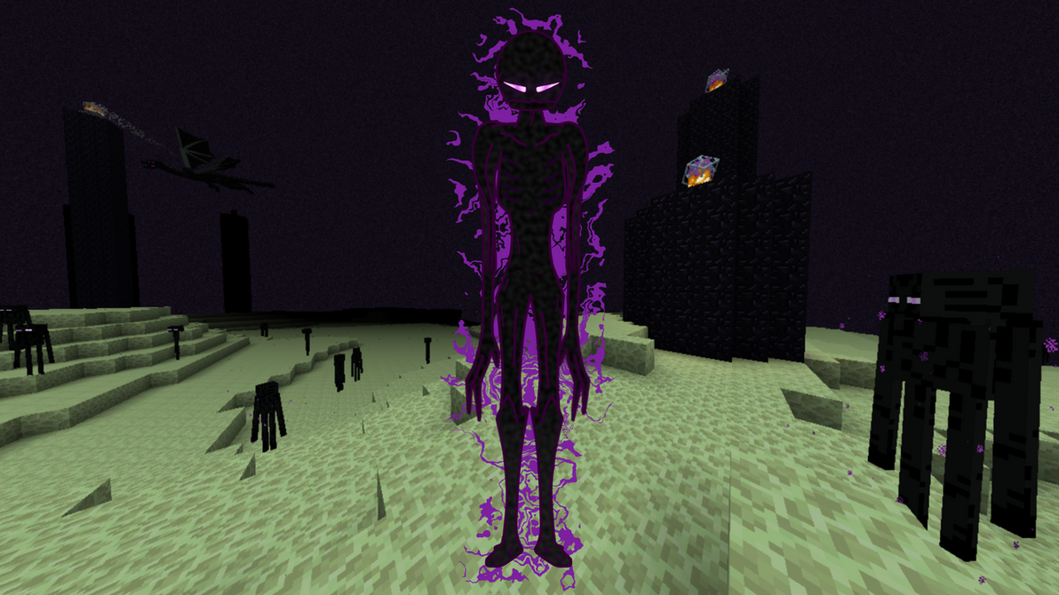 Minecraft Enderman (w/ Background) by onatfb on DeviantArt