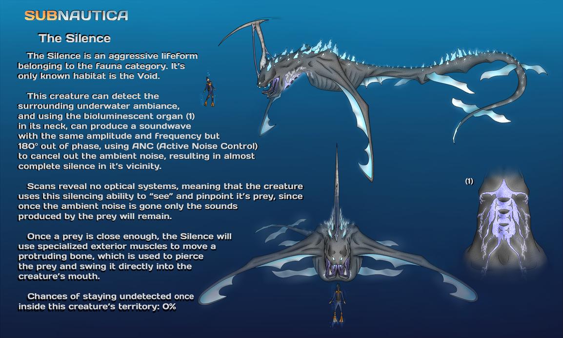 Subnautica Creature Idea 2 The Silence By Onatfb On
