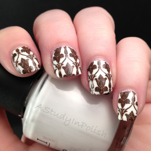 Sherlock's wallpaper nails by AStudyInPolish